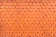 Pattern of orange roof tiles Stock Photography