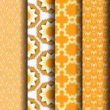 Pattern orange Stock Image