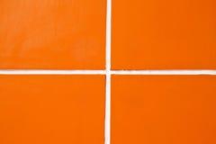 Pattern of orange wall Stock Photography