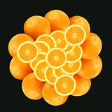 Pattern from oranges 2 royalty free stock image