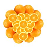 Pattern from oranges Royalty Free Stock Photography