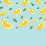 Pattern with oranges Royalty Free Stock Photos
