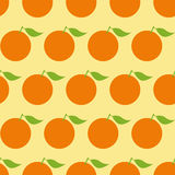 Pattern with oranges Stock Photography