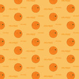 Pattern with oranges. Seamless pattern with oranges and text Stock Images