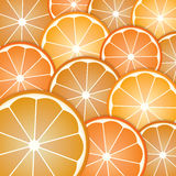 Pattern oranges slices Royalty Free Stock Photos