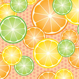 Pattern oranges slices Royalty Free Stock Photography