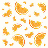 Pattern with oranges Royalty Free Stock Images
