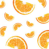 Pattern with oranges Stock Image