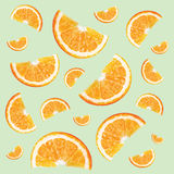 Pattern with oranges Stock Images