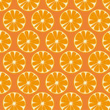 Pattern with oranges. Royalty Free Stock Images