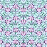 Pattern Oriental Flowers Stock Image