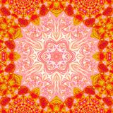 Pattern in oriental style colorful ornamental background with mandala frame vector illustration