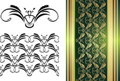 Pattern of ornament for decorative background Royalty Free Stock Images