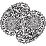 Pattern, ornament, elements decorated in a beautiful pattern, texture, in Indy style. Stock Image
