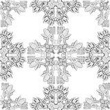 The pattern with ornament Inca Royalty Free Stock Photo