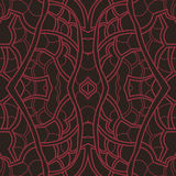 Pattern, ornament with red lines Stock Images