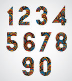 Pattern ornamental colorful abstract numbers. Royalty Free Stock Photography