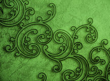 Pattern Ornamental Green Wallpaper Royalty Free Stock Photo