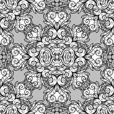 Pattern, ornamental round lace Stock Images