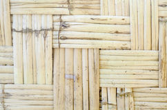 Pattern of orthogonal strips made of reeds for green architectur Stock Photos