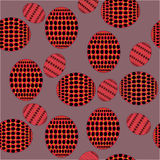 Pattern of ovals with red and orange patterns Stock Photo