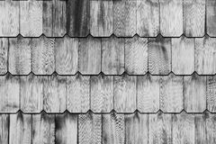 Pattern of overlap shingle white wood texture. Royalty Free Stock Photography