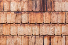 Pattern of overlap shingle wood texture. Stock Images