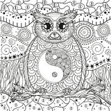 Pattern with owl Royalty Free Stock Image