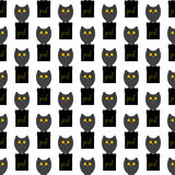 Pattern with owl prof Stock Photos