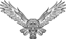 Pattern owl Stock Photos