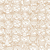 Pattern with owls. Royalty Free Stock Photography