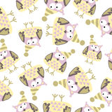 Pattern of owls Stock Images
