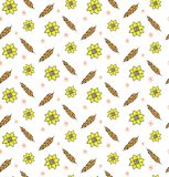 Rye wheat harvest vector seamless pattern ears of golden sunflower beautiful nature rural background. A pattern for packing bread, seeds, grain crops. Rye wheat Royalty Free Stock Images