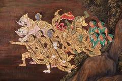 Pattern paint thai Royalty Free Stock Image