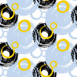 Pattern with painted circles and bubbles Royalty Free Stock Photo
