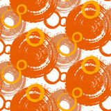 Pattern with painted circles and bubbles. Vector pattern with big bold painted circles and bubbles. Colorful hand drawn print for summer fall fashion with random Stock Photography