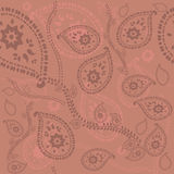Pattern with paisley Stock Photo