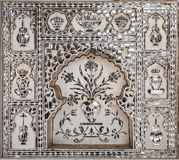 Pattern on the palace, Jaipur Royalty Free Stock Photography