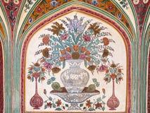 Pattern on the palace, Jaipur Royalty Free Stock Photos