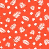 Pattern with palm leafs inspired by tropics nature Stock Photo