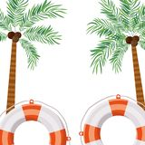 Pattern of palm tree with coconut in white background. Vector illustration design vector illustration