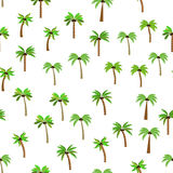 Pattern of palm trees. Diversity of trees set on white stock illustration