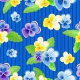 pattern with pansies Royalty Free Stock Photos