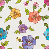 Pattern of the pansies Royalty Free Stock Photo