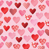 Pattern paper heart Stock Image