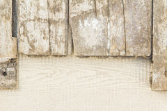 Pattern of paper and wood. Stock Image