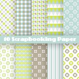 Pattern papers for scrapbook Stock Photography