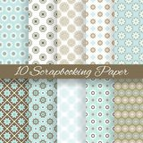 Pattern papers for scrapbook (tiling). Stock Images