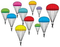 Background pattern with parachutes Royalty Free Stock Photo