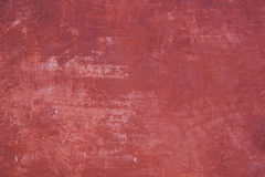 Pattern on part of wall with red plaster Royalty Free Stock Photography